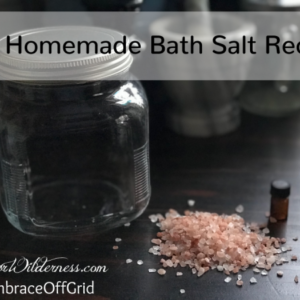Homemade Bath Salt Recipe