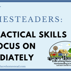 New Homesteaders: 10 Practical Skills to Focus on Immediately