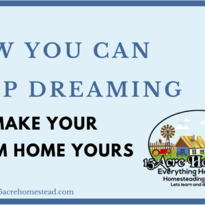How You Can Stop Dreaming & Make Your Dream Home Yours