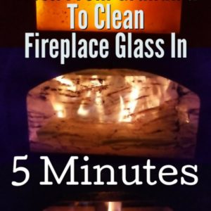 Use This All Natural Trick From Grandma To Clean Fireplace Glass In 5 Minutes