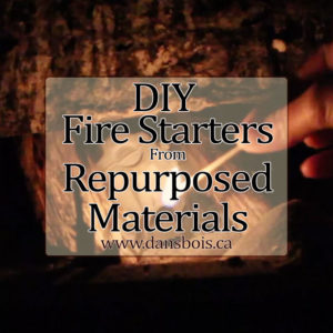 Fire Starters From Re-purposed Materials