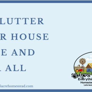 Declutter Your House Once and For All