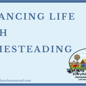 Balancing Life With Homesteading