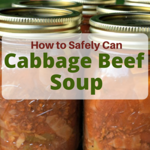 How to Safely Can Cabbage Beef Soup