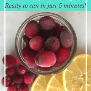 Cranberry Lemon Jam in a Steam Canner
