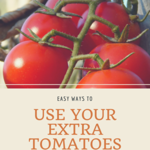 Using All of Your Tomatoes