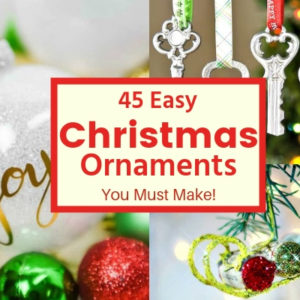 45 Handmade Christmas Ornaments You Can Still Make
