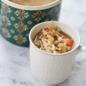 Instant Pot Turkey and Rice Soup