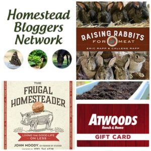 Frugal Homesteading and Raising Rabbits for Meat Giveaway!